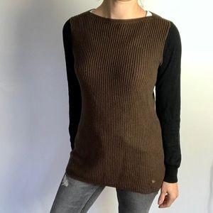 RALPH LAUREN color block ribbed sweater